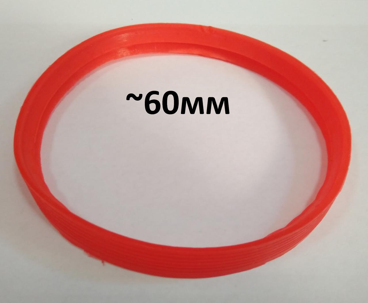 Термостійка ущільнююча гумка 60мм для коаксіального димоходу 60/100