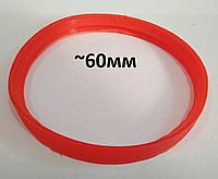 Термостійка ущільнююча гумка 60мм для коаксіального димоходу 60/100, фото 1