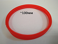 Термостійка ущільнююча гумка 100мм для коаксіального димоходу 60/100, фото 1