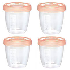 Контейнеры для хранения грудного молока Nip, Первые моменты, 4 шт., 150 мл (35606)