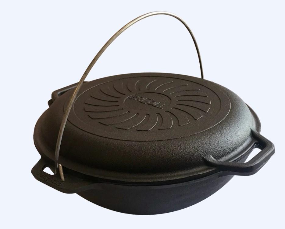 Казан азіатський чавунний Brizoll з кришкою сковородою 10 л (КА10-3)