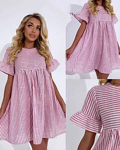 Женское летнее  платье. Ткань лён. Размер С М Л.