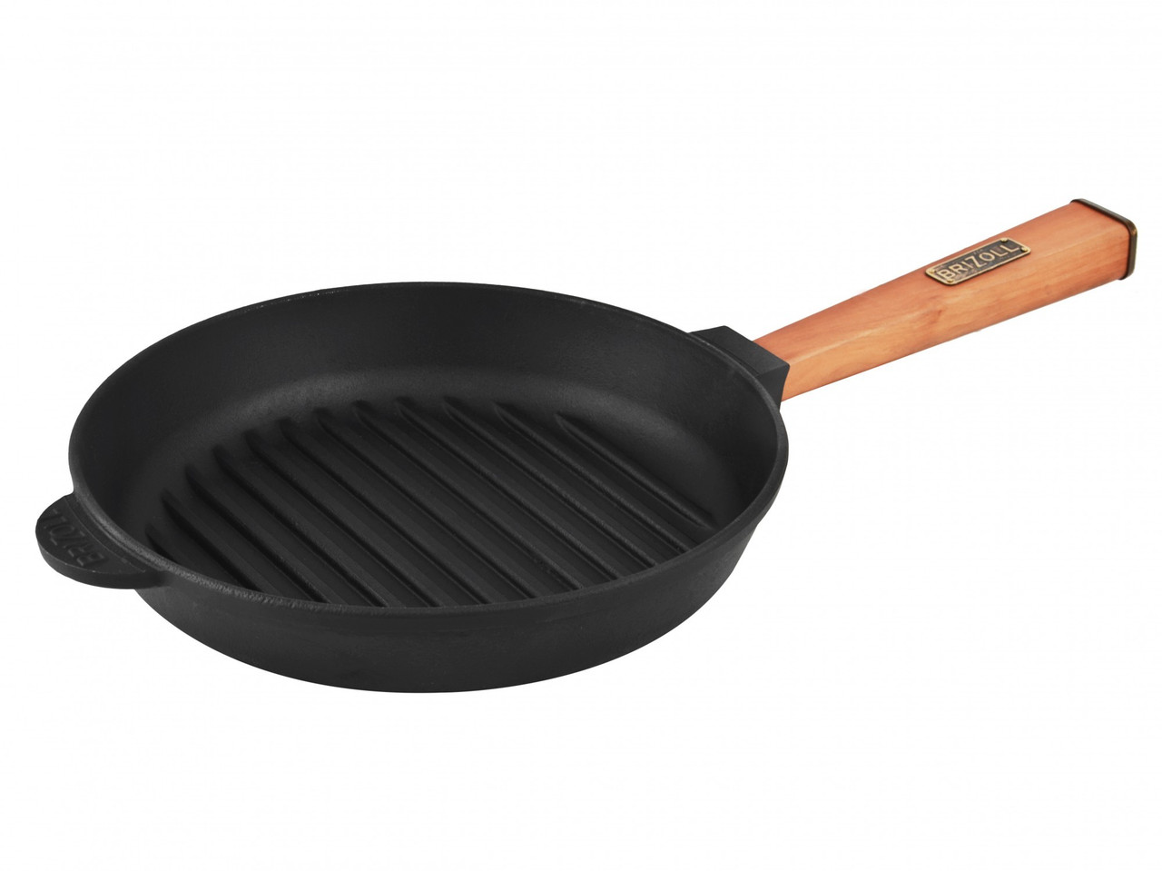 Сковорода Brizoll чугунная гриль Optima 240х40 мм (О2440Г-Р)