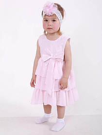 Детское платье Tiffany розовое для девочки 74 - 80 размер