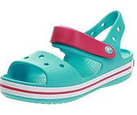 Крокс размер J1 J2 J3 оригинал детские босоножки бирюзовые Crocs Kids Bayaband Sandal