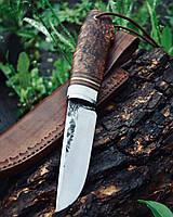 """Нож ручной работы, финка """"Жиганская"""" с рукоядью дуба и рога лося"""