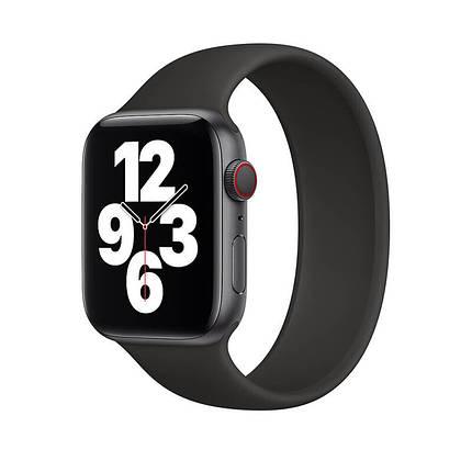Силіконовий монобраслет Solo Loop Midnight Black для Apple Watch 38mm | 40mm Size L, фото 2