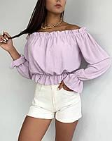 Очень красивая женская блузка с открытыми плечами