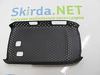 Чехол-накладка для Samsung S3850 сеточка пластик черный