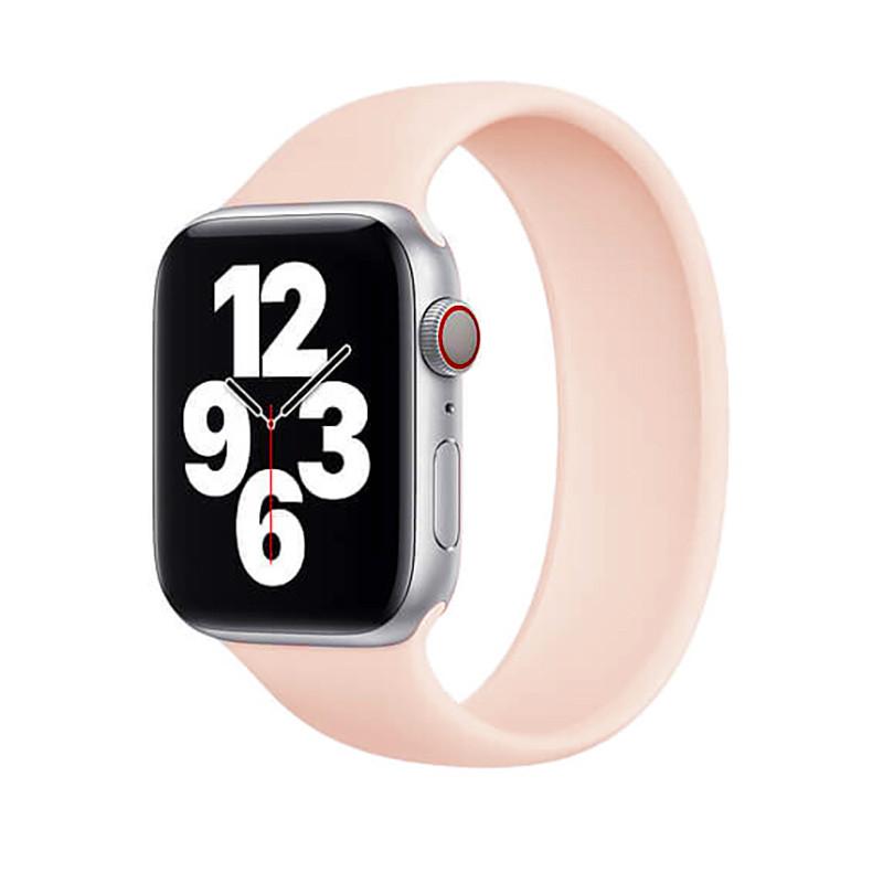 Силіконовий монобраслет Solo Loop Pink для Apple Watch 38mm   40mm Size L