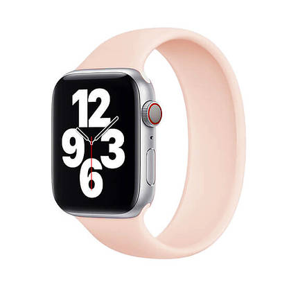 Силіконовий монобраслет Solo Loop Pink для Apple Watch 38mm   40mm Size L, фото 2