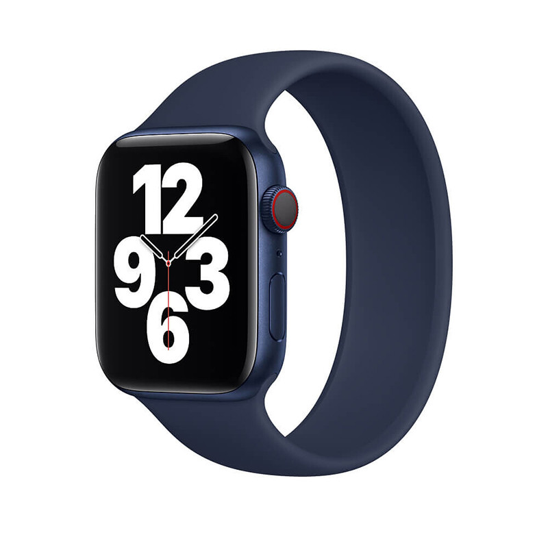 Силиконовый монобраслет Solo Loop Midnight Blue для Apple Watch 38mm | 40mm Size L