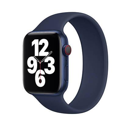 Силиконовый монобраслет Solo Loop Midnight Blue для Apple Watch 38mm | 40mm Size L, фото 2