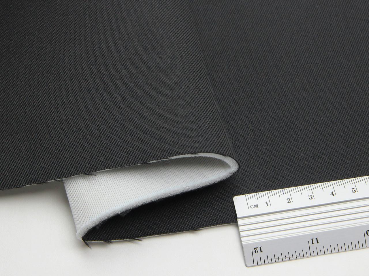 Автоткань для бічної частини сидінь TSB-1/23/11 (темно-сірий графіт) основа поролон 3мм з сіткою, 180см ширина