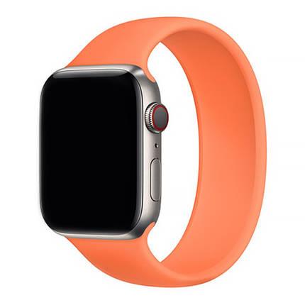 Силиконовый монобраслет Solo Loop Orange для Apple Watch 38mm | 40mm Size L, фото 2