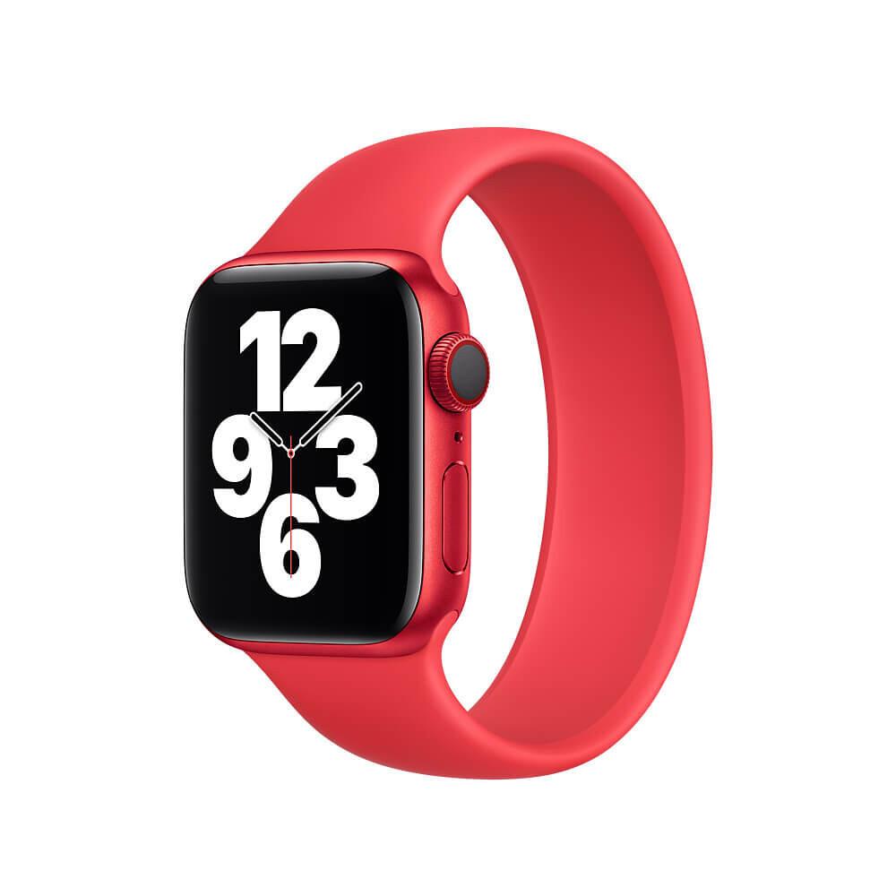 Силиконовый монобраслет Solo Loop Red для Apple Watch 38mm | 40mm Size L