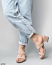 Босоножки женские модные замшевые, фото 3