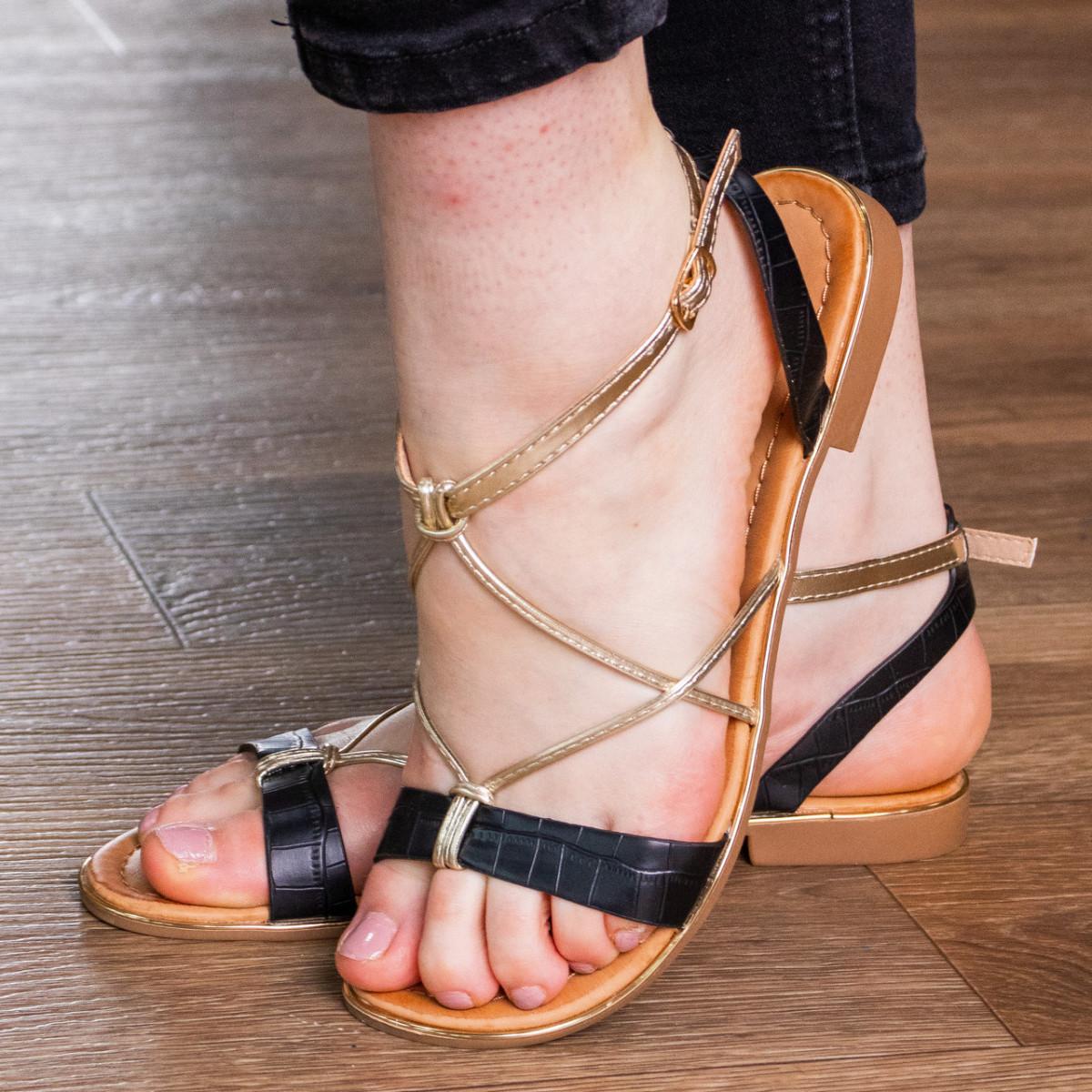 Женские босоножки Fashion Arrura 1640 38 размер 24,5 см Черный