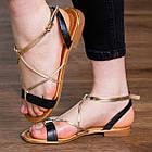 Женские босоножки Fashion Arrura 1640 38 размер 24,5 см Черный, фото 2