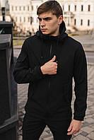 Мужская куртка Softshell черная демисезонная Intruder
