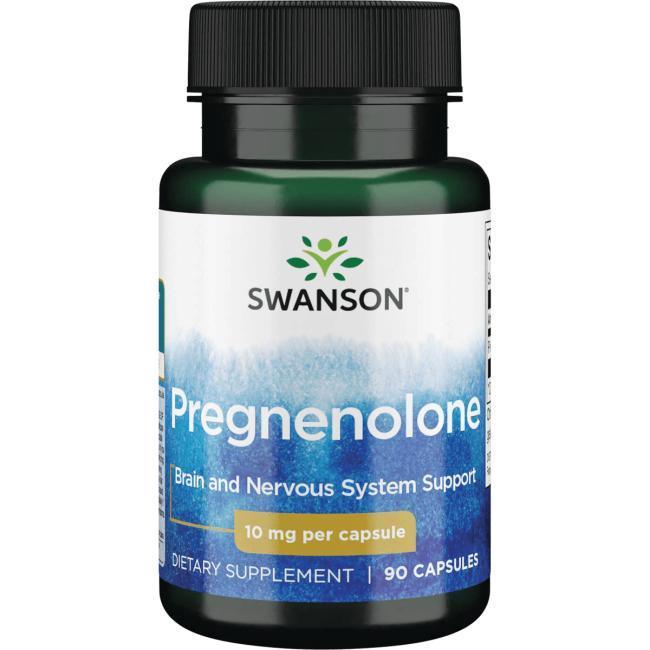 Прегненолон гормону тестостерону, Pregnenolone, Swanson, 10 мг, 90 капсул