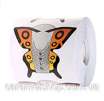 "Формы для наращивания ногтей ""Бабочка оранжевая"" - рулон 300 шт. (9,2 * 7,5 см.)"