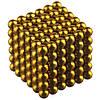 Магнітна іграшка неокуб Toy NEO CUB GOLD магнітні кульки