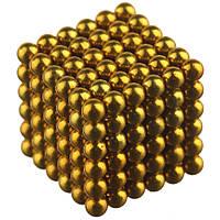 Магнітна іграшка неокуб Toy NEO CUB GOLD магнітні кульки, фото 1