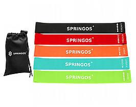 Резинка для фитнеса и спорта (лента-эспандер) Springos Mini Power Band 5 шт 1-25 кг PB0012