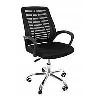 Кресло для офиса компьютерное Bonro B-620 на колесиках, офисное кресло операторское для персонала черный