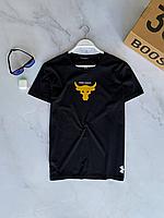 Чёрная футболка Under Armour мужская | Турция | хлопок + ликра, фото 1