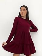 Практичне модне плаття з оборками з довгим рукавом, 01034 (Марсала), Розмір 42 (S), фото 3