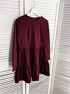 Практичне модне плаття з оборками з довгим рукавом, 01034 (Марсала), Розмір 42 (S), фото 6