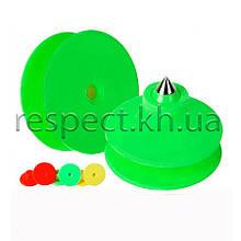 Вушна бирка (кліпса) кругла 30 мм зелена (БРК-16)
