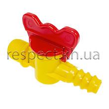 Кран пластиковий з нар. різьбою 1/2 під шланг 14 мм