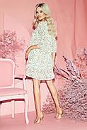 Сукня жіноча шифонова вільного крою, рукав три чверті, 01035 (Молочний), Розмір 42 (S), фото 2