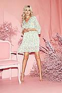 Сукня жіноча шифонова вільного крою, рукав три чверті, 01035 (Молочний), Розмір 42 (S), фото 3