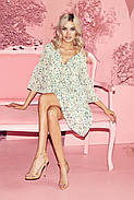 Сукня жіноча шифонова вільного крою, рукав три чверті, 01035 (Молочний), Розмір 42 (S), фото 4