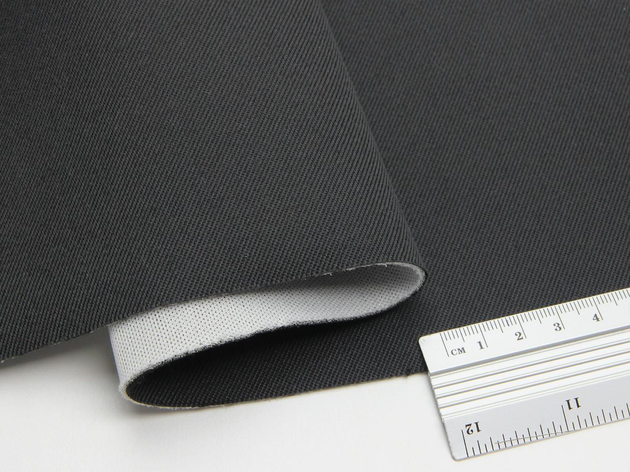 Автоткань для бічної частини сидінь (темно-сірий графіт), основа поролон 1мм з сіткою, 180см ширина