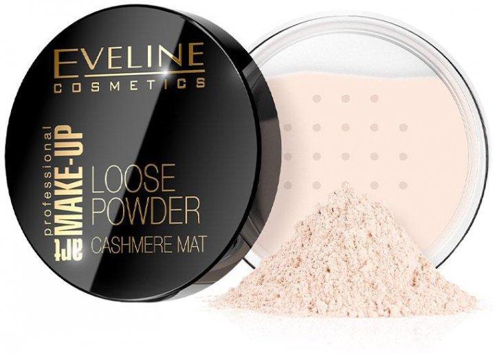 Транспарентна розсипчаста пудра для обличчя Eveline Eveline Cosmetics Loose Powder Cashmere Mat, 6 м №01