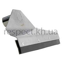 Скребок для прибирання гною з нержавіючої сталі (з резинкою)