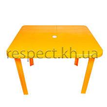 Пластиковий прямокутний стіл (жовтий)
