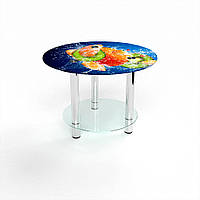 Стол журнальный БЦ-стол Круглый с полкой Sweet Mix (600 x 600 x 500)