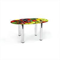 Стол журнальный БЦ-стол Овальный Wood berry (460 x 700 x 450)