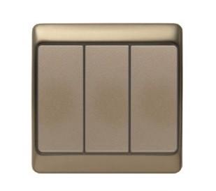 Вимикач 3-клавішний Berker Arsys світло-бронзовий