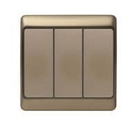 Выключатель 3-клавишный Berker Arsys светло-бронзовый