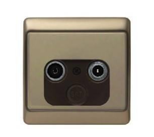 Вимикач 3-клавішний Berker Arsys світло-бронзовий, фото 2
