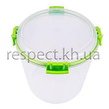 Пластиковий контейнер для продуктів круглий 2,2 л (з прокладкою)