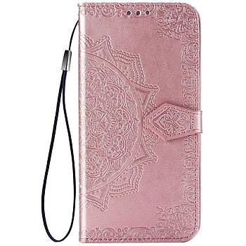 Шкіряний чохол (книжка) Art Case з візитницею для TECNO POP 2F Рожевий