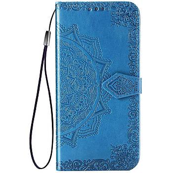 Шкіряний чохол (книжка) Art Case з візитницею для TECNO POP 2F Синій